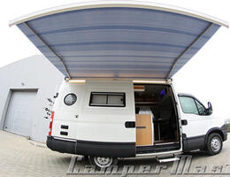 Awning to motorhome