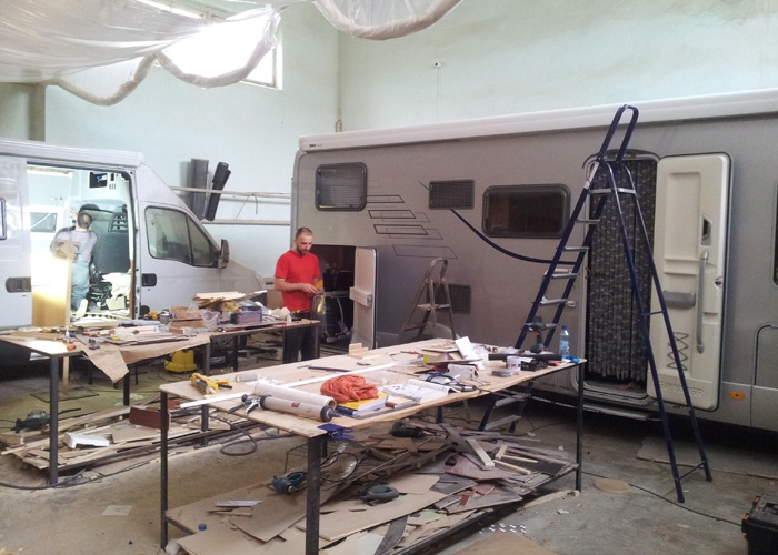 Repair and maintenance of caravans